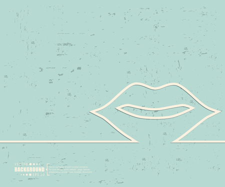 sound bite: Creative vector mouth. Illustration