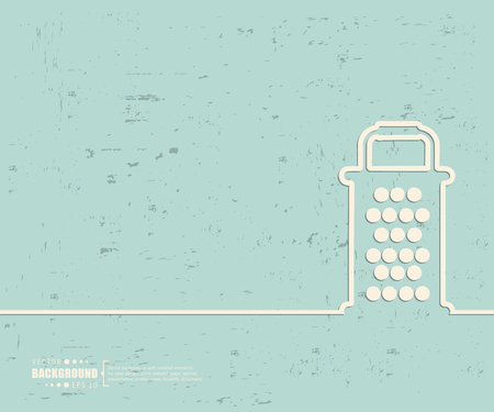 Creative vector grater. Illustration