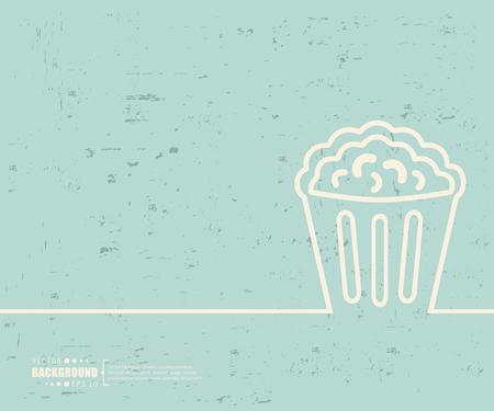 macro: Creative vector popcorn.