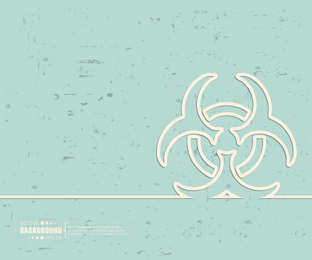 caution chemistry: Creative vector Bio hazard.