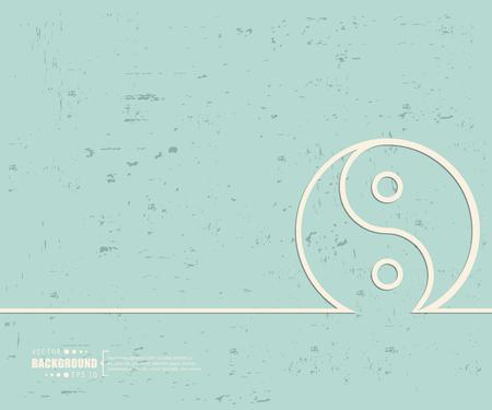 yang: Creative vector Yin Yang.