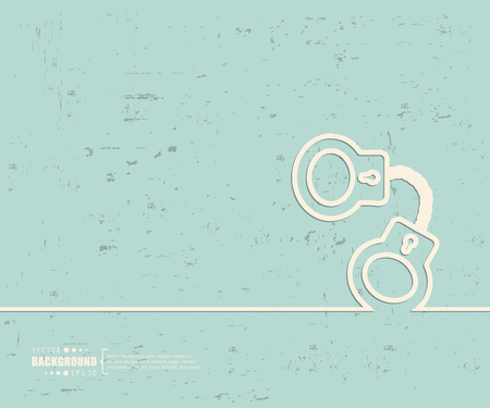 swindler: Creative vector handcuffs. Illustration