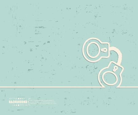 Creative vector handcuffs. Illustration