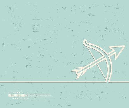 represent: Creative vector cupid bow.
