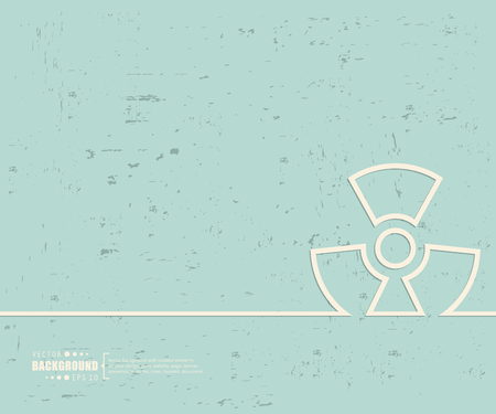 uranium: Creative vector radioactively. Illustration
