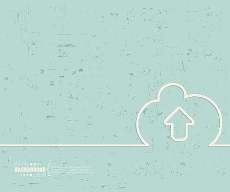 shared sharing: Creative vector cloud.