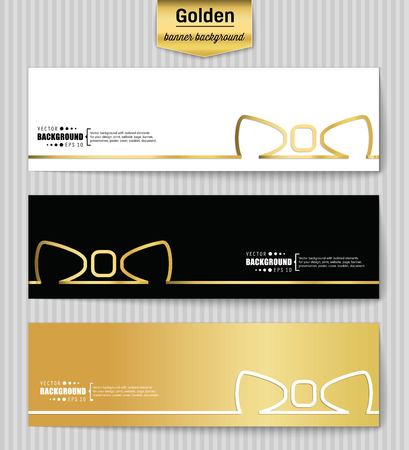 chequered ribbon: Abstract Creative concept gold vector background for Web and Mobile Applications, Illustration template design, business infographic, page, brochure, banner, presentation, poster, booklet, document. Illustration
