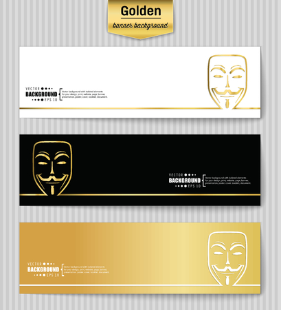 anonymity: Abstract Creative concept gold vector background for Web and Mobile Applications, Illustration template design, business infographic, page, brochure, banner, presentation, poster, booklet, document. Illustration