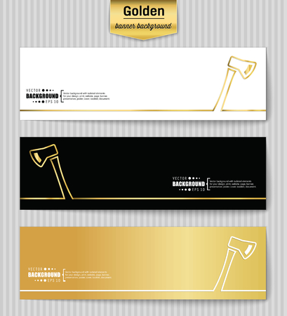 pick ax: Abstract Creative concept gold vector background for Web and Mobile Applications, Illustration template design, business infographic, page, brochure, banner, presentation, poster, booklet, document. Illustration