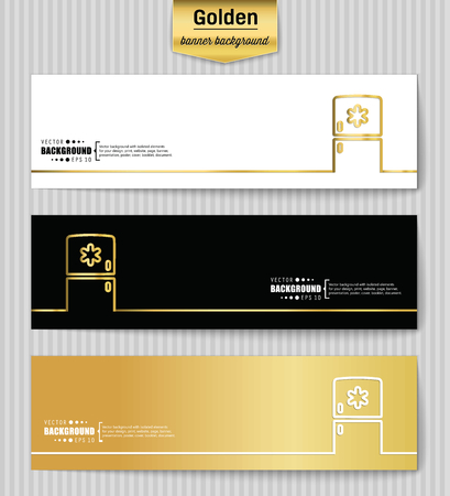 merchandising: Abstract Creative concept gold vector background for Web and Mobile Applications, Illustration template design, business infographic, page, brochure, banner, presentation, poster, booklet, document. Illustration