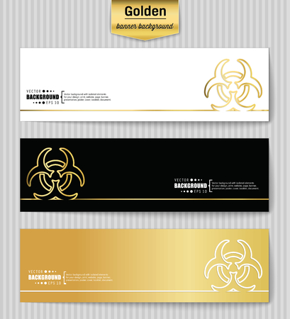 infectious waste: Abstract Creative concept gold vector background for Web and Mobile Applications, Illustration template design, business infographic, page, brochure, banner, presentation, poster, booklet, document. Illustration