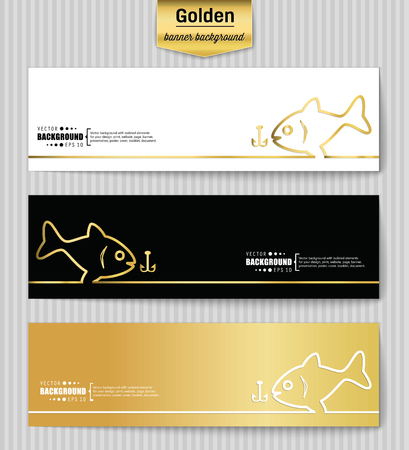 largemouth: Abstract Creative concept gold vector background for Web and Mobile Applications, Illustration template design, business infographic, page, brochure, banner, presentation, poster, booklet, document. Illustration