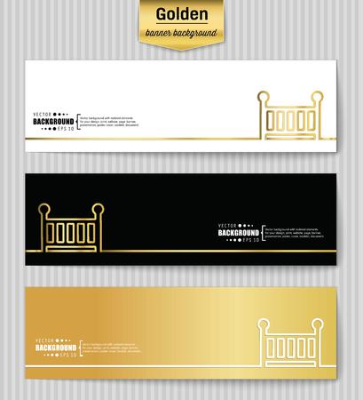 vector de fondo abstracto creativo concepto de oro para aplicaciones web y móviles, diseño de plantilla de ilustración, infografía negocio, página, folleto, bandera, presentación, cartel, folleto, documento.