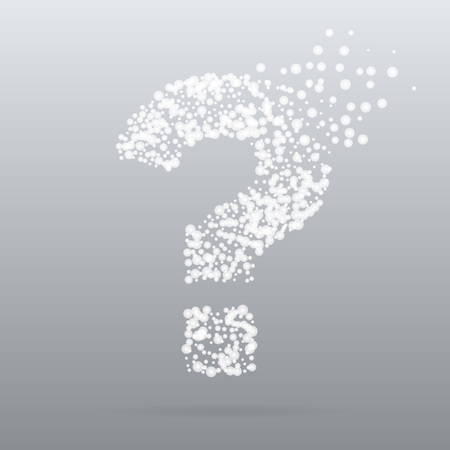 silhoette: Abstract creative concept vector icon of question for Web and Mobile Application isolated on background. Art illustration template design, Business infographic and social media, digital flat silhoette Illustration