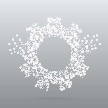 silhoette: Abstract creative concept vector icon of gear for Web and Mobile app isolated on background. Art illustration template design, Business infographic and social media, digital flat silhoette Illustration
