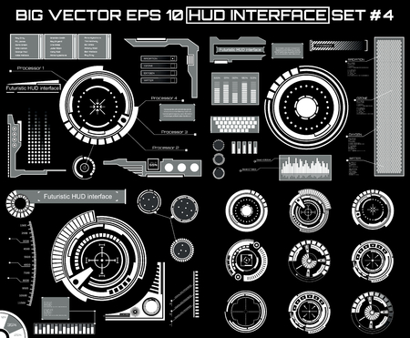 Abstract future, concept vector futuristic blue virtual graphic touch user interface HUD. For web, site, mobile applications isolated on background, techno, online design, business, gui, ui, kit, hud. Vector Illustration