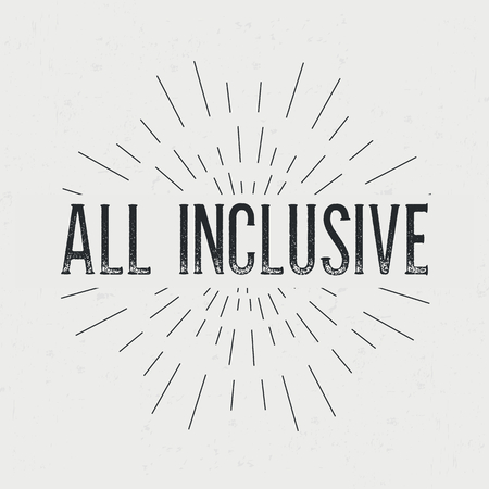 inclusive: Abstract creative vector design layout with text - all inclusive.