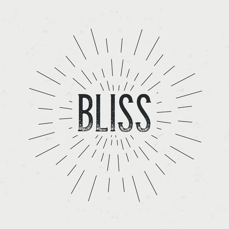 bliss: Abstract creative vector design layout with text - bliss.