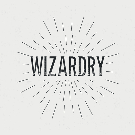 wizardry: Abstract creative vector design layout with text - wizardry. Illustration