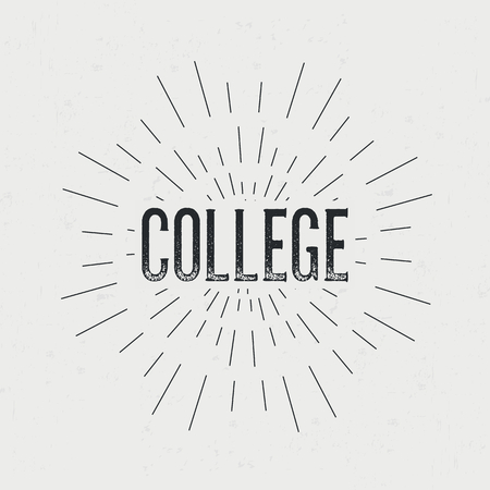 Abstract creative vector design layout with text - college.