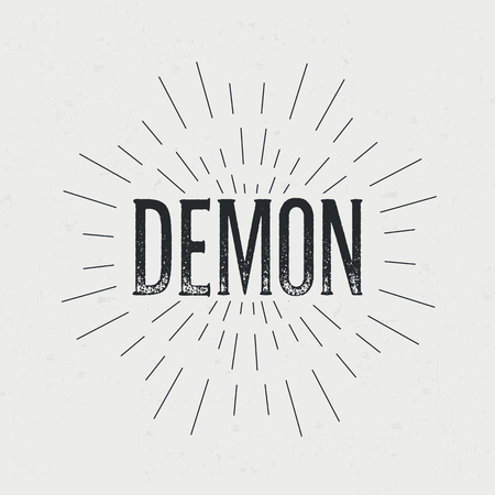 devil ray: Abstract creative vector design layout with text - demon.