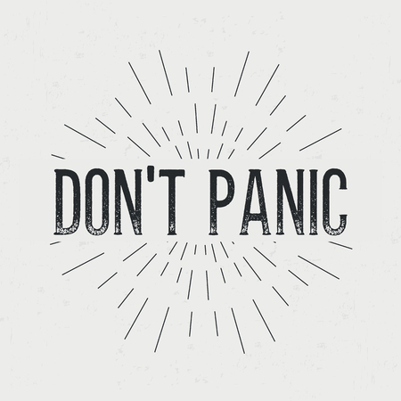 don: Abstract creative vector design layout with text - don not panic.
