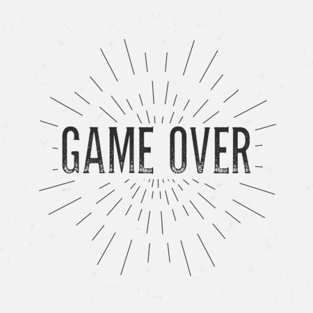 rubberstamp: Abstract creative vector design layout with text - game over. Illustration