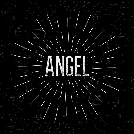 devil ray: Abstract creative vector design layout with text - angel.