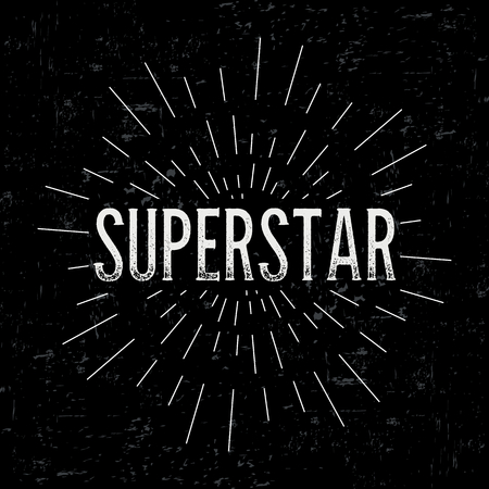 superstar: Abstract creative vector design layout with text - superstar.
