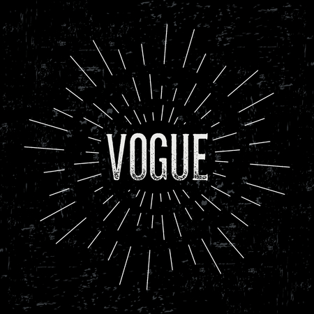 vogue: Abstract creative vector design layout with text - vogue. Illustration