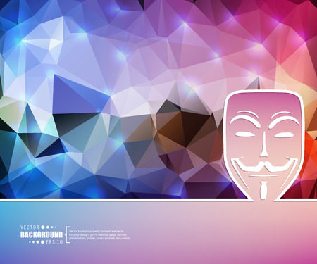 anonymity: Abstract Creative concept vector background for Web and Mobile Applications, Illustration template design, business infographic, page, brochure, banner, presentation, booklet, document.
