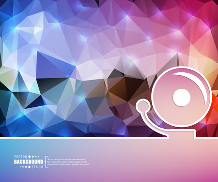 decibels: Abstract Creative concept vector background for Web and Mobile Applications, Illustration template design, business infographic, page, brochure, banner, presentation, booklet, document.