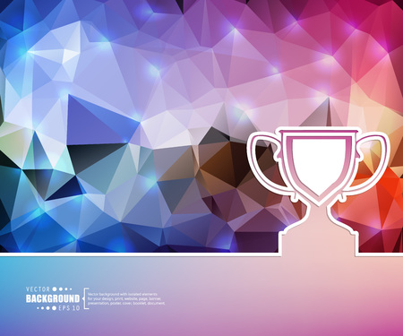 real trophy: Abstract Creative concept vector background for Web and Mobile Applications, Illustration template design, business infographic, page, brochure, banner, presentation, booklet, document.