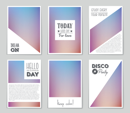 business event: Abstract vector layout background set. For art template design, list, page, mockup brochure theme style, banner, idea, cover, booklet, print, flyer, book, blank, card, ad, sign, sheet, flyer, a4.