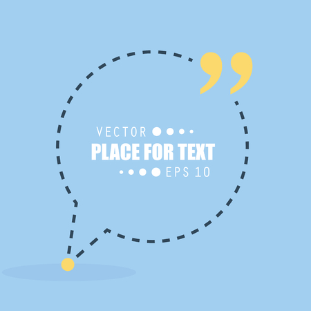 definition: Abstract concept vector empty speech square quote text bubble. For web and mobile app isolated on background, illustration template design, creative presentation, business infographic social media.