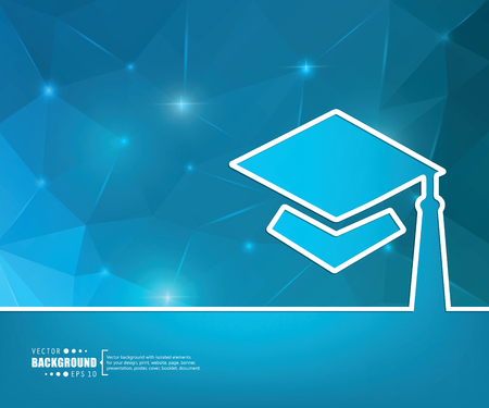 valedictorian: Abstract Creative concept vector background for Web and Mobile Applications, Illustration template design, business infographic, page, brochure, banner, presentation, booklet, document.