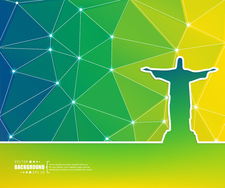 corcovado: Abstract creative concept vector background for Web and Mobile Applications, Illustration template design, business infographic, page, brochure, banner, presentation, poster, cover, booklet, document.