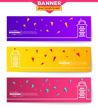 metal grater: Abstract creative concept vector background for web, mobile app, Illustration template design, business infographic, page, brochure, orange banner, presentation, poster, purple cover, pink booklet. Illustration