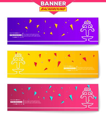 gush: Abstract creative concept vector background for web, mobile app, Illustration template design, business infographic, page, brochure, orange banner, presentation, poster, purple cover, pink booklet. Illustration
