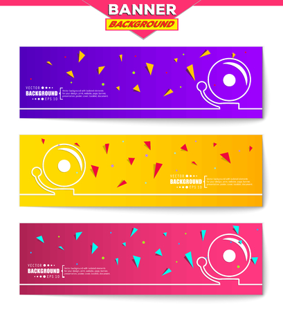 decibels: Abstract creative concept vector background for web, mobile app, Illustration template design, business infographic, page, brochure, orange banner, presentation, poster, purple cover, pink booklet. Illustration