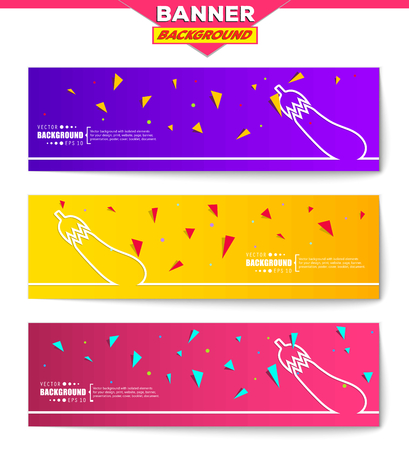 courgette: Abstract creative concept vector background for web, mobile app, Illustration template design, business infographic, page, brochure, orange banner, presentation, poster, purple cover, pink booklet. Illustration