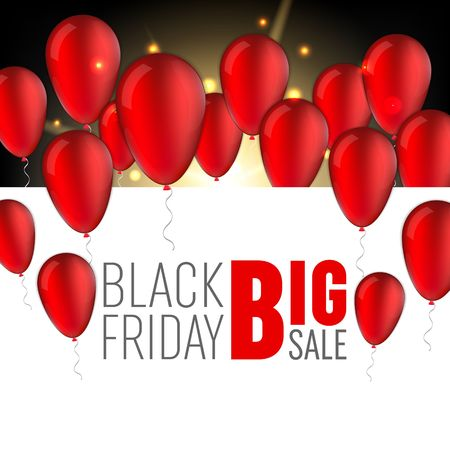 Abstract black friday sale layout background