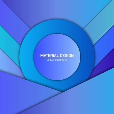 Vector material design background abstract creative concept abstract creative concept layout template for web and mobile app paper art illustration design style blank poster booklet motion wallpaper element maxwellsz