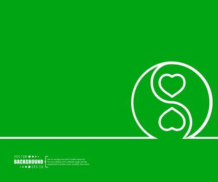 yin y yan: Fondo creativo abstracto concepto de vector para aplicaciones web y móviles, diseño de plantilla de ilustración, infografía negocio, página, folleto, bandera, presentación, folleto, documento. Vectores