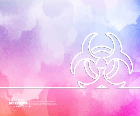 hazardous waste: Abstract Creative concept vector background for Web and Mobile Applications, Illustration template design, business infographic, page, brochure, banner, presentation, booklet, document.