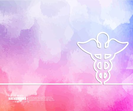 staff of aesculapius: Abstract Creative concept vector background for Web and Mobile Applications, Illustration template design, business infographic, page, brochure, banner, presentation, booklet, document.