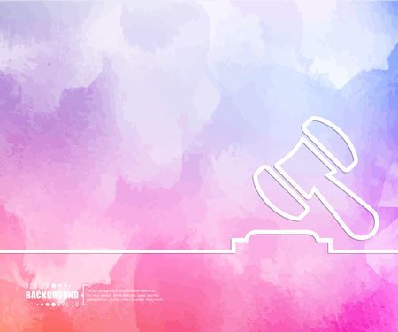 auctioneer: Abstract Creative concept vector background for Web and Mobile Applications, Illustration template design, business infographic, page, brochure, banner, presentation, booklet, document.