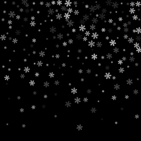 Abstract creative christmas falling snow isolated on background. Vector illustration clipart art for Xmas holiday decoration. Concept idea design element. Realistic snowflake. Winter frost effect.