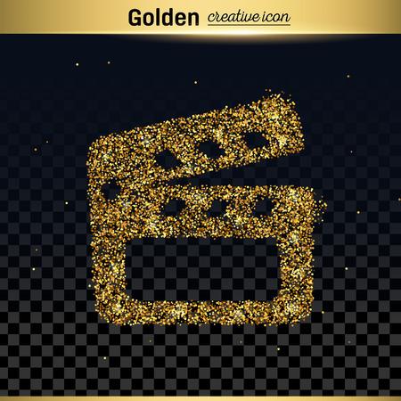 brillo del oro del icono del vector