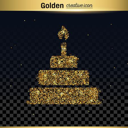 multimedia background: Gold glitter vector icon